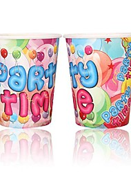 Coway 50PCS Happy Angel Party Disposable Paper Cup Cartoon Environmental Protection