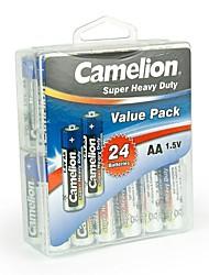 camelion super-lourds pile AA dans la boîte de récipient de 24 pcs