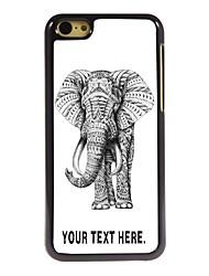 caso elefante caso design de metal personalizado para iphone 5c