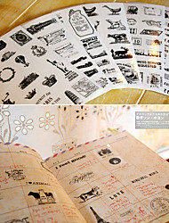 journal scrapbooking stickers décoratifs tower ballon à air chaud (x6)