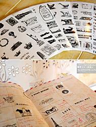 diário scrapbooking adesivos decorativos torre balão de ar quente (6pcs)