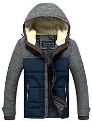 Мужская сшивание цвет хлопка пальто