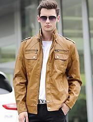 nuova elasticità lavata giacca di pelle da uomo