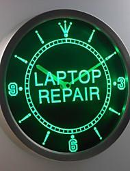 nc0324 Laptop Computer Repair Display Neon Sign LED Wall Clock
