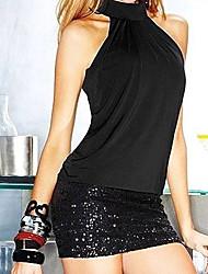 Mini - Vestido - Algodão/Elastano - Sem Forro