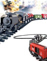 overlength classico elettrico giocattoli a batteria ferrovia stazione ferroviaria con il suono + luce + di fumare