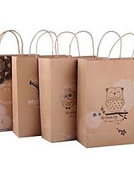 coway 24,5 * 20 * 8,5 cadeaux respectueux de l'environnement sacs kraft sac de papier cadeau (couleur aléatoire)