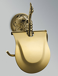 "Toilet Paper Holder Ti-PVD Wall Mounted 210 x 185 x 80mm (8.26 x 7.28 x 3.14"") Brass Antique"
