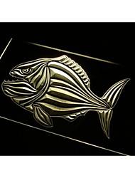 N487 poisson piranha signe bar bière décor néon de lumière