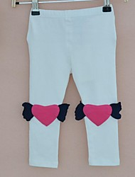 Girl's Leggings with Angel Hearts Design, Long Pants