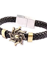 style punk bracelet en cuir plié en alliage de soleil (1 pc)