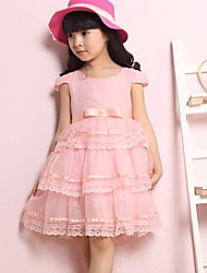 Girls Chiffon Lace Dress