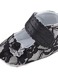 Chaussures bébé Robe Dentelle Ballerines Noir
