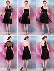 Convertible Dress Knee-length Lace A-line Dress (1484339)