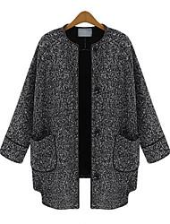 mode warme jas met lange mouwen