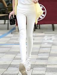 женские случайные конфеты цвет высокой талии брюки карандаш с карманом плюс размер