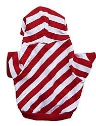 Stylish Santa Christmas Stripes Style with Hoodie for Pets Dogs(Assorted Size)