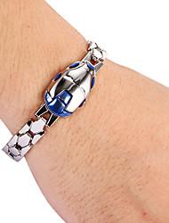 mode blauwe mannen zilverlegering tennis armband (1 st)