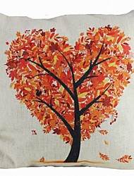 albero cuore artistico modello di casa in cotone e lino copertura del cuscino decorativo