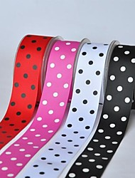 3/2 Inch Polyester Rib Belt Printing Ink Dot Three Oblique Dot Ribbon- 25 Yards Per Roll (More Colors)