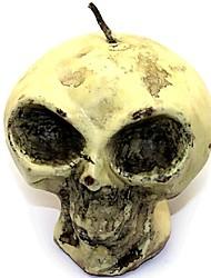 Halloween Skull Human Skeleton Fondant Cake Chocolate Candle Silicone Mold,L8.7cm*W8.7cm*H7.9cm