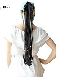 22 pouces pur queue de cheval manuel de tissage tressé (6 couleurs)