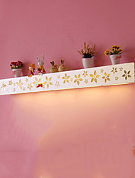 paroi conduit appliques moderne sculpture florale 220v bois de modèle