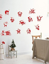 zooyoo® bonito pvc vários homens natal removível colorida de adesivos de parede adesivos de parede de venda quente para a decoração da