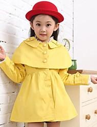 casacos de inverno manga longa trincheira da menina (mais cores)