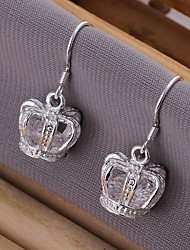 Earring Drop Earrings Jewelry Women Silver / Cubic Zirconia 2pcs Silver