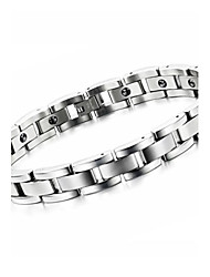 Men's Titanium Steel  Bangle Weight Loss  Bracelet with Energy Magnetic Stone