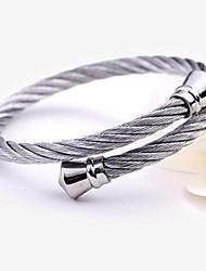 Bracelete Aço Inoxidável Original Moda Jóias Prata Jóias 1peça