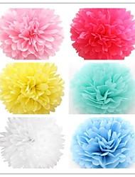 Multi-Color-8 '' (20cm) Seidenpapier pom pom Blumen für die Hochzeit Party-Deko