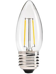 E26/E27 LED Filament Bulbs C35 COB 400 lm Warm White Dimmable / Decorative AC 220-240 V