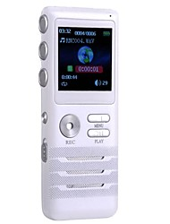 4GB Zinc Alloy Die Cast Digital Voice Recorders Dual-core Stereo Noise Reduction Recording White