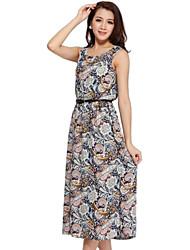 Ciros ™ Женская Геометрия Печать Тонкий Значительно Тонкий Шаг платье