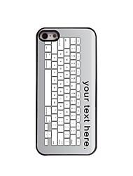 caso personalizado diseño de metal teclado del caso para el iphone 5 / 5s