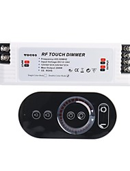 6A 2-Channel Smart RF Touch Dimmer with Multifunction Remote Controller for LED Lighting (DC 12V-24V)