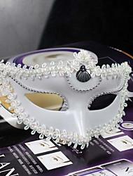 máscara de halloween rendas plástico festa a fantasia misteriosa (cores sortidas)