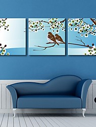 Stretched Canvas Art The Bird In Spring Set of 3