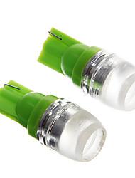 verde t10 1.5W levaram luzes de instrumentos do carro (12V, 2pcs)
