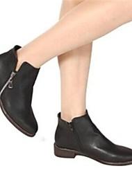 ho&Vintage bottes de tirette de couleur unie des femmes ob