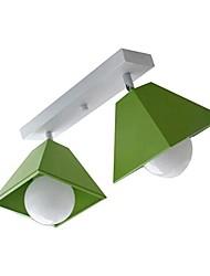 europa moda montagem em dois luz 220v cor de metal norte simples moderno