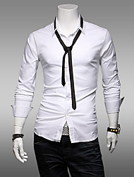 JACK-BOY Men's Casual Square Long Sleeve Casual Shirts (Organic Cotton)