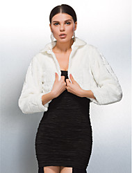 Elegant Long Sleeve Faux Fur Wedding/ Party Evening Jackets/ Wraps Bolero Shrug