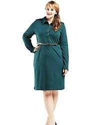 vestido de moda feminina com gola de camisa xadrez no estilo outono e inverno