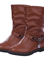 Women's Shoes Motorcycle Flat Heel Mid-calf Boots More Colors available