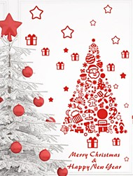 ZOOYOO® Cute Colorful PVC Removable red christmas tree picture of Wall Stickers Hot Selling Wall Decals For Home Decor