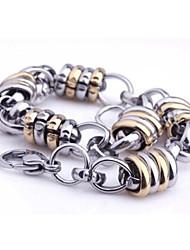 herenmode persoonlijkheid titanium staal gouden indirecte polycyclische armbanden