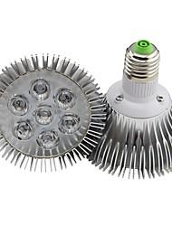 7W E26/E27 Projecteurs PAR 7 LED Haute Puissance 700LM lm Blanc Chaud Gradable AC 100-240 V